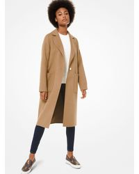 Michael Kors Wool Coat - Natural