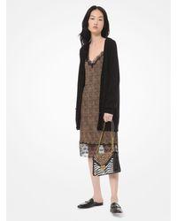 MICHAEL Michael Kors Wool And Cotton-blend Cardigan - Black