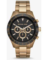 Michael Kors Oversized Layton Antique Gold-tone Watch - Metallic