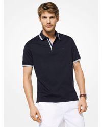 Michael Kors - Greenwich Cotton Polo Shirt - Lyst