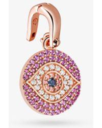 Michael Kors Custom Kors 14k Gold-plated Sterling Silver Evil Eye Charm - Metallic