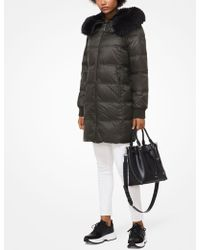 Michael Kors - Quilted Nylon And Faux Fur Puffer - Lyst