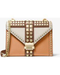 Michael Kors Whitney Large Studded Saffiano Leather Convertible Shoulder Bag - Multicolour