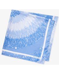 Michael Kors Tie Dye Silk Scarf - Blue
