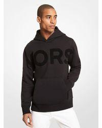 Michael Kors Felpa in cotone con cappuccio e scritta KORS - Nero