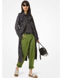 Michael Kors Floral Cady Trench Coat Floral Cady Trench Coat - Noir