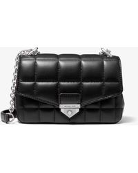 Michael Kors Petit sac porté épaule Soho en cuir matelassé - Noir
