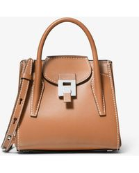Michael Kors Bancroft Mini Calf Leather Satchel - Brown