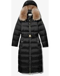 Michael Kors Quilted Nylon Belted Puffer Coat - Black