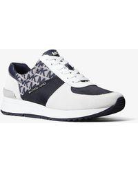 Michael Kors Allie Mixed-media Sneaker - Blue