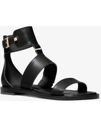 Michael Kors Amos Leather Gladiator Sandal - Black