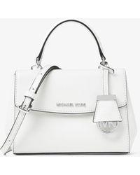 Michael Kors Ava Extra-Small Saffiano Leather Crossbody Bag - Weiß