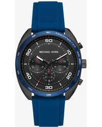 Michael Kors - Dane Black-tone And Silicone Watch - Lyst