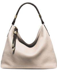 82affef80dab Lyst - Michael Kors Skorpios Large Pebbled Leather Shoulder Bag in ...