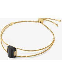 Michael Kors - 14k Gold-plated Sterling Silver Slider Bracelet - Lyst