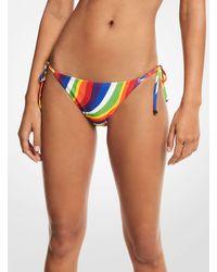 Michael Kors Rainbow Wave Bikini Bottom - Multicolor