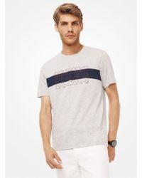 Michael Kors - Logo Stretch Cotton-jersey T-shirt - Lyst