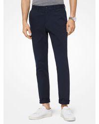 Michael Kors Pantalone chino slim-fit in twill di cotone - Blu