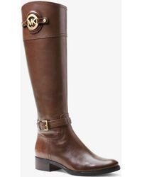 Michael Kors - Stockard Leather Boot - Lyst