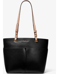 Michael Kors Michael Bedford Leather Pocket Tote Bag - Black