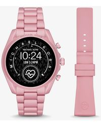 Michael Kors Smartwatch Gen 5 Bradshaw Aus Aluminium In Hellrosa - Blau