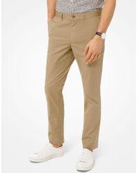 Michael Kors Pantalone chino slim-fit in in popeline delavé - Neutro