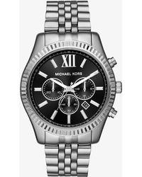 Michael Kors - Lexington Silver-tone Watch - Lyst