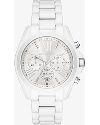 Michael Kors - Bradshaw White-coated Watch - Lyst