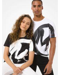 Michael Kors Logo Cotton Jersey Unisex T-shirt - White