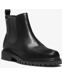 Michael Kors - Hudson Leather Boot - Lyst