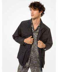 bd07541b9a5a6 Lyst - Michael Kors Tech Fabricknit Reversible Vest in Black for Men