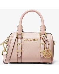 Michael Kors Bedford Legacy Extra-small Pebbled Leather Duffle Crossbody Bag - Pink