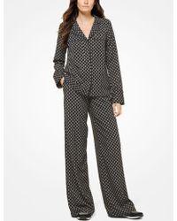 Michael Kors - Camisa tipo pijama con estampado de medallones y tachuelas - Lyst