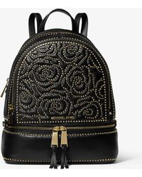 Michael Kors - Floral Studded Backpack - Lyst