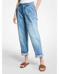 Michael Kors Stretch Denim Carrot Jeans - Blue