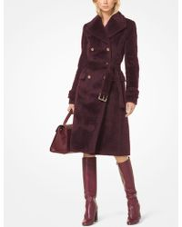 Michael Kors - Wool-blend Belted Coat - Lyst