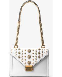 Michael Kors - Whitney Large Embellished Leather Shoulder Bag - Lyst
