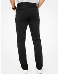 Michael Kors Parker Slim-fit Stretch-twill Trousers - Black