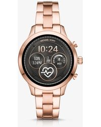 Michael Kors - Runway Rose Gold-tone Smartwatch - Lyst