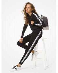 Michael Kors Logo Tape Mesh Track Jacket - Black