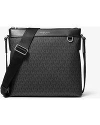 Michael Kors Greyson Logo Messenger Bag - Black