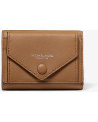 aae8613aa8877 Michael Kors - Calf Leather Small Pocket Wallet - Lyst