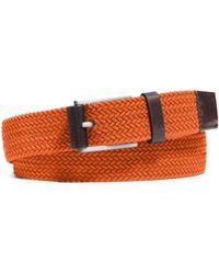 Michael Kors Woven Belt - Rojo