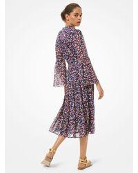 Michael Kors Floral Georgette Dress - Multicolour