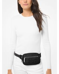 Michael Kors Winnie Medium Quilted Belt Bag - Black