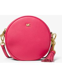 1377f9133272 Michael Kors Michael Canteen Leather Cross Body Bag in Pink - Lyst