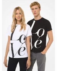 Michael Kors Watch Hunger Stop Love T-shirt - White