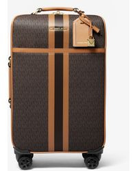 Michael Kors Maleta Bedford Travel Extragrande Con Rayas Y Logotipo - Marrón