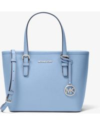 Michael Kors Jet Set Travel Extra-small Saffiano Leather Top-zip Tote Bag - Blue
