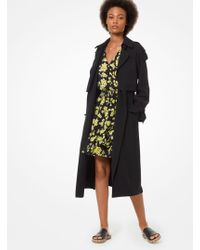 Michael Kors Draped Trench Coat - Black